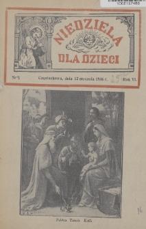Niedziela dla Dzieci. 1936, nr1