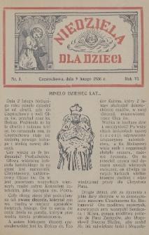 Niedziela dla Dzieci. 1936, nr3