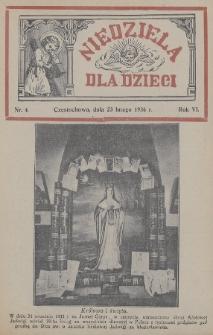 Niedziela dla Dzieci. 1936, nr4