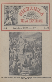 Niedziela dla Dzieci. 1936, nr6