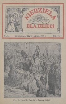 Niedziela dla Dzieci. 1936, nr7