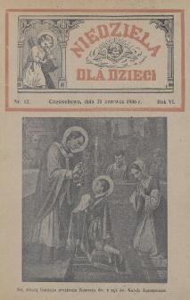 Niedziela dla Dzieci. 1936, nr12