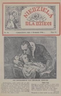 Niedziela dla Dzieci. 1936, nr21