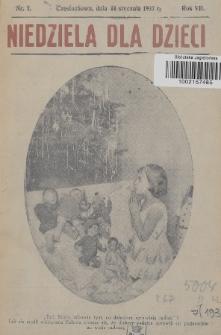 Niedziela dla Dzieci. 1937, nr1
