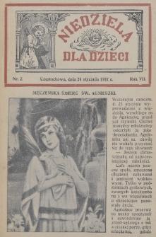 Niedziela dla Dzieci. 1937, nr2