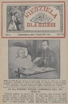 Niedziela dla Dzieci. 1937, nr3