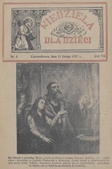 Niedziela dla Dzieci. 1937, nr4