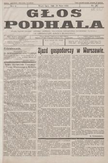 Głos Podhala : aktualny tygodnik powiatów: gorlickiego, jasielskiego, limanowskiego, nowosądeckiego, nowotarskiego i żywieckiego. 1933, nr 22