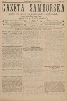 Gazeta Samborska : pismo poświęcone sprawom ekonomicznym i społecznym okręgu: Sambor, Stary Sambor, Turka. 1908, nr49
