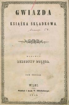 Gwiazda : książka skladkowa. 1855, T.3
