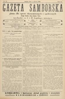 Gazeta Samborska : pismo poświęcone sprawom ekonomicznym i społecznym okręgu: Sambor, Stary Sambor, Turka. 1909, nr11