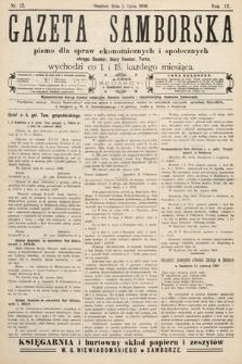 Gazeta Samborska : pismo poświęcone sprawom ekonomicznym i społecznym okręgu: Sambor, Stary Sambor, Turka. 1909, nr13