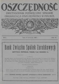 Oszczędność : dwutygodnik poświęcony sprawie organizacji oszczędności w Polsce. 1927, nr7