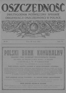 Oszczędność : dwutygodnik poświęcony sprawie organizacji oszczędności w Polsce. 1927, nr10