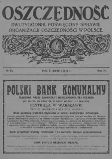Oszczędność : dwutygodnik poświęcony sprawie organizacji oszczędności w Polsce. 1927, nr24