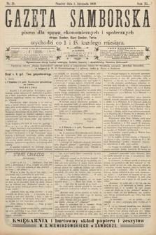 Gazeta Samborska : pismo poświęcone sprawom ekonomicznym i społecznym okręgu: Sambor, Stary Sambor, Turka. 1909, nr21