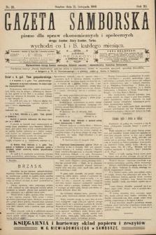 Gazeta Samborska : pismo poświęcone sprawom ekonomicznym i społecznym okręgu: Sambor, Stary Sambor, Turka. 1909, nr22