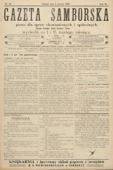 Gazeta Samborska : pismo poświęcone sprawom ekonomicznym i społecznym okręgu: Sambor, Stary Sambor, Turka. 1909, nr23