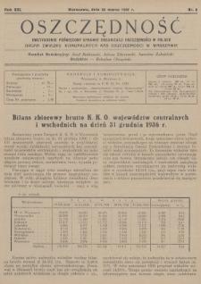 Oszczędność : dwutygodnik poświęcony sprawie organizacji oszczędności w Polsce : organ Związku Komunalnych Kas Oszczędności w Warszawie. 1937, nr6
