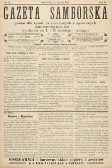 Gazeta Samborska : pismo poświęcone sprawom ekonomicznym i społecznym okręgu: Sambor, Stary Sambor, Turka. 1910, nr12