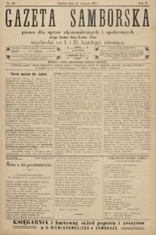 Gazeta Samborska : pismo poświęcone sprawom ekonomicznym i społecznym okręgu: Sambor, Stary Sambor, Turka. 1910, nr16