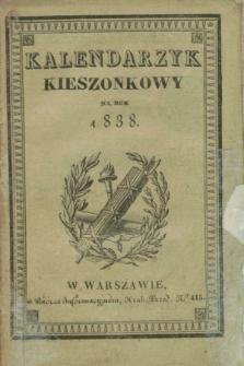 Kalendarzyk Kieszonkowy na Rok 1838