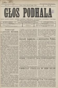 Głos Podhala : aktualny tygodnik powiatów: gorlickiego, jasielskiego, limanowskiego, nowosądeckiego, nowotarskiego i żywieckiego. 1934, nr 22