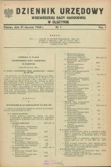Dziennik Urzędowy Wojewódzkiej Rady Narodowej w Olsztynie. 1968, nr 1 (31 stycznia)