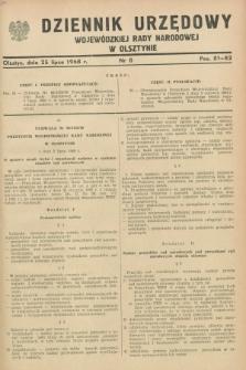 Dziennik Urzędowy Wojewódzkiej Rady Narodowej w Olsztynie. 1968, nr 8 (25 lipca)