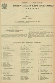 Dziennik Urzędowy Wojewódzkiej Rady Narodowej w Gdańsku. 1961, nr 4 (20 czerwca)