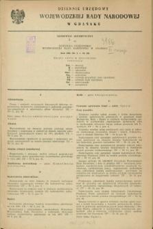 Dziennik Urzędowy Wojewódzkiej Rady Narodowej w Gdańsku. 1968, Skorowidz alfabetyczny