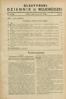 Olsztyński Dziennik Wojewódzki. R.4, nr 23 (30 grudnia 1948) = nr (56)