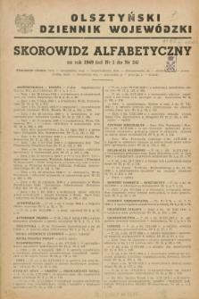 Olsztyński Dziennik Wojewódzki. R.5, Skorowidz alfabetyczny (1949)