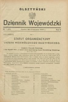 Olsztyński Dziennik Wojewódzki. R.5, nr 1 (5 stycznia 1949) = nr (57)