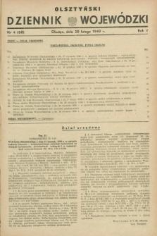 Olsztyński Dziennik Wojewódzki. R.5, nr 4 (20 lutego 1949) = nr (60)