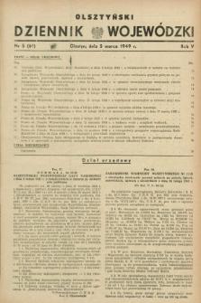 Olsztyński Dziennik Wojewódzki. R.5, nr 5 (5 marca 1949) = nr (61)