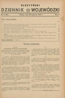 Olsztyński Dziennik Wojewódzki. R.5, nr 8 (20 kwietnia 1949) = nr (64)