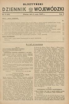 Olsztyński Dziennik Wojewódzki. R.5, nr 9 (5 maja 1949) = nr (65)