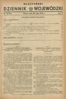 Olsztyński Dziennik Wojewódzki. R.5, nr 10 (20 maja 1949) = nr (66)
