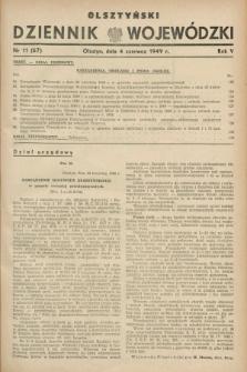 Olsztyński Dziennik Wojewódzki. R.5, nr 11 (4 czerwca 1949) = nr (67)