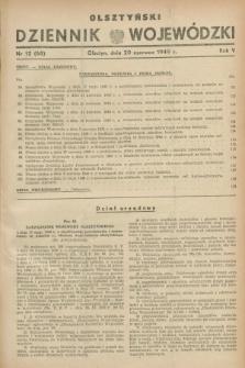 Olsztyński Dziennik Wojewódzki. R.5, nr 12 (20 czerwca 1949) = nr (68)