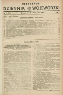 Olsztyński Dziennik Wojewódzki. R.5, nr 19 (5 października 1949) = nr (75)