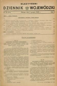Olsztyński Dziennik Wojewódzki. R.5, nr 23 (5 grudnia 1949) = nr (79)
