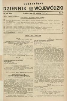 Olsztyński Dziennik Wojewódzki. R.5, nr 24 (20 grudnia 1949) = nr (80)