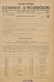 Olsztyński Dziennik Wojewódzki. R.6, nr 1 (5 stycznia 1950) = nr 81