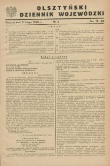 Olsztyński Dziennik Wojewódzki. [R.6], nr 3 (5 lutego 1950)