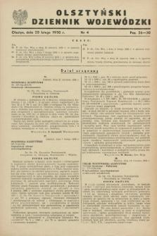 Olsztyński Dziennik Wojewódzki. [R.6], nr 4 (20 lutego 1950)