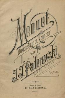 Menuet : humoresque de concert : pour piano : op. 14 no. 1