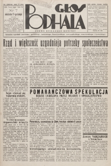 Głos Podhala : aktualny tygodnik powiatów: gorlickiego, jasielskiego, limanowskiego, nowosądeckiego, nowotarskiego i żywieckiego. 1935, nr 7