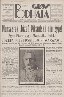 Głos Podhala : aktualny tygodnik powiatów: gorlickiego, jasielskiego, limanowskiego, nowosądeckiego, nowotarskiego i żywieckiego. 1935, nr 21